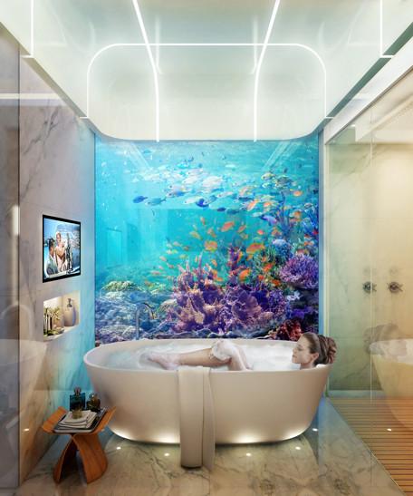 Ванная в подводном уровне