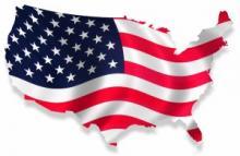 США флаг/мапа
