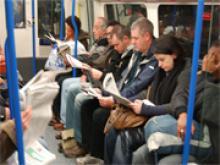 метро, люди