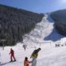 горы снег