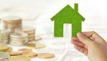 зелёний дом, рука, деньги