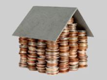 домик из монеток