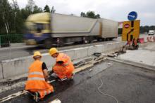 Строительство автодороги