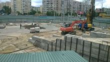 Строительство на метро Героев Днепра